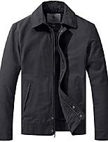 cheap -men's cotton military work black light windbreaker jacket gray 4xl