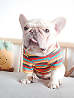 cheap -Dog Coat Stripes Casual / Daily Cute Casual / Daily Winter Dog Clothes Warm Purple Blue Orange Costume Polyster S M L XL XXL