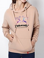 cheap -Women's Hoodie Sweatshirt Hoodies Pullover Hoody Black White Pink Cartoon Oversized Hoodie Crew Neck Cotton Cartoon Cute Sport Athleisure Pullover Long Sleeve Breathable Warm Soft Comfortable