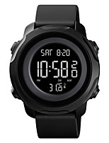 cheap -SKMEI Men's Sport Watch Digital Modern Style Stylish Outdoor Calendar / date / day Silicone Black / Blue Digital - White+Blue Black Blue One Year Battery Life