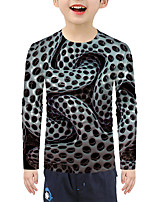 cheap -Kids Boys' Active Basic 3D Print Long Sleeve Blouse Black