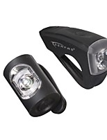 cheap -silicone usb 10 lumen front/rear bike light combo pack
