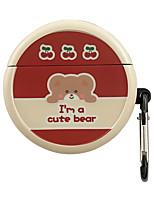 cheap -Case For HUAWEI FreeBuds 3 Cute Pattern  Lovely Headphone Case Hard fruit bear