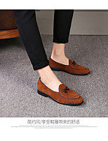 cheap -Men's Fall / Winter Casual Daily Loafers & Slip-Ons Pigskin Breathable Black / Yellow / Gray / Tassel