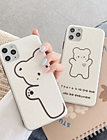 cheap -Case For Apple iPhone 7 8 plus SE 2020 X XS XR XS max  11 11 Pro 11 Pro Max Pattern Back Cover  Cartoon TPU Embossed cute LOVELY word phrase