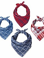 cheap -bandanas 4 pack, headbands for women, washable reversible bandanas for women, bandanas for dogs and cats, plaid printing wrap scarf wristband