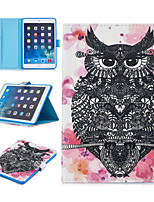 cheap -Case For Apple iPad Mini 3 2 1 iPad Mini 4 iPad Mini 5 Card Holder Shockproof Pattern Full Body Cases Animal PU Leather TPU Auto Sleep Wake Up magnetic buckle owl