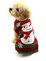 cheap -dog clothes snow sweaters snowman sweaters xmas dog holiday sweaters new year christmas sweater pet knit clothes for small dog and cat & #40;xl& #41;
