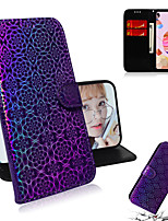 cheap -Case For LG LG Stylo 5 G8 ThinQ Q60 K50 W10 K40S K41S K51S K61 Card Holder Flip Full Body Cases Lines Waves Solid Colored PU Leather