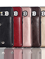 cheap -Case For Samsung Galaxy Galaxy S7 S7edge S8 S8plus S9 S9plus S10 S10E S10plus Wallet Card Holder Full Body Cases Solid Colored PU Leather TPU