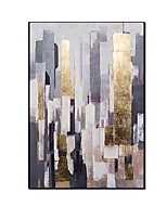 cheap -Abstract oil painting on canvas 100% Hand painted Modern Bright Color abstract painting colorful landscape Picture Home Wall Hotel decor Rolled Without Frame