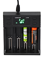 cheap -LiitoKala LII-S4 LCD Smart Battery Charger 4 Slot Charger for 18650 26650 18350 NiMH AA