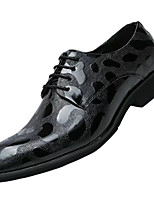 cheap -Men's Spring / Fall Party & Evening Office & Career Oxfords Nappa Leather Black / Gold