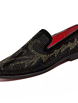 cheap -Men's Fall Casual Daily Loafers & Slip-Ons PU Non-slipping Black Color Block