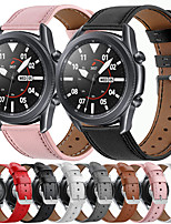 cheap -Watch Band for Samsung Galaxy Watch 46mm / Samsung Gear S3 / Galaxy Watch 3 45mm Samsung Galaxy Classic Buckle / Business Band Genuine Leather Wrist Strap Official Watchband
