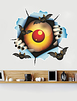 cheap -Halloween Party Halloween Decor Horror Ghost Halloween Eyes Wall Stickers Decorative Wall Stickers, PVC Home Decoration Wall Decal Wall Decoration / Removable