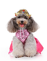 cheap -Dog Halloween Costumes Costume Dress Princess Casual / Sporty Cute Christmas Party Dog Clothes Breathable Pink Costume Polyester S M L XL