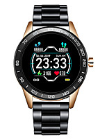 cheap -LG0109 Stainless Steel Smartwatch for Android/ IOS/ Samsung Phones, Bluetooth Fitness Tracker Support Heart Rate Monitor