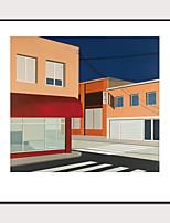 cheap -Framed Art Print Framed Set 1 -Morandi Color Abstract Architectural Landscape Art PS Photo Wall Art