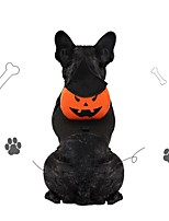cheap -Dog Cat Halloween Costumes Costume Bandanas & Hats Pumpkin Unique Design Cute Christmas Party Dog Clothes Breathable Orange Costume Fabric M L