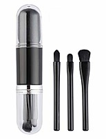 cheap -4 in 1 retractable makeup brushes,  cosmetic beauty makeup minerals powder brush travel retractable kabuki brush,foudation blush brush cosmetic tool & #40;silvery& #41;