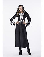 cheap -Witch Dress Cosplay Costume Adults' Women's Cosplay Halloween Halloween Festival / Holiday Polyester Black Women's Easy Carnival Costumes