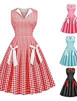 cheap -Audrey Hepburn Polka Dots Retro Vintage 1950s Dress Party Costume Women's Costume Black / Red / Blushing Pink Vintage Cosplay Party / Evening Homecoming Sleeveless
