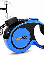 cheap -retractable dog leash, reuse design, 360° tangle free, heavy duty pet walking leash for large dogs,16ft strong reflective nylon tape, one-handed brake, pause, lock blue