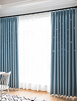 cheap -Two Panel Children's Room Hollow Star Blackout Curtains Living Room Bedroom Dining Room Curtains