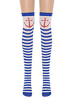 cheap -Witch Cosplay Costume Socks / Long Stockings Adults' Women's Cosplay Halloween Halloween Festival / Holiday Nylon Fiber Blue Women's Easy Carnival Costumes