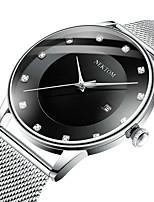 cheap -NEKTOM Men's Sport Watch Quartz Sporty Stylish Casual Water Resistant / Waterproof Analog - Digital Rose Gold Black+Gloden Black / White / Stainless Steel / Calendar / date / day