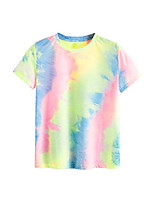 cheap -women& #39;s casual short sleeve tie dye tee top t-shirt multicolor1 xxl