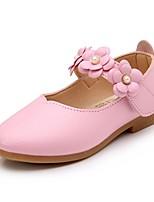 cheap -Girls' Flats Comfort PU Floral Big Kids(7years +) Flower White / Red / Fuchsia Spring / Fall