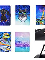 cheap -Case For Apple iPad Mini 3/2/1 / iPad Mini 4 / iPad Mini 5 Card Holder / Shockproof / Flip Full Body Cases Dog / Animal PU Leather / TPU