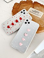 cheap -Case For Apple iPhone 7 7P iPhone 8 8P iPhone X iPhone XS XR XS max iPhone 11 11 Pro 11 Pro Max Pattern Back Cover Heart Transparent TPU