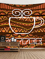 cheap -Coffee Leisure Digital Printed Tapestry Decor Wall Art Tablecloths Bedspread Picnic Blanket Beach Throw Tapestries Colorful Bedroom Hall Dorm Living Room Hanging