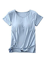 cheap -women& #39;s summer thin soft cozy breathable modal cotton fingers padded built in bra t-shirt light blue 3xl - & #40;fits like us 12-14& #41;