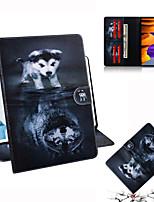 cheap -Case For Samsung Galaxy Samsung Tab A 8.0(2019)T290 295 Samsung Tab A8(2019)P200/205 Card Holder  Flip Full Body Cases Animal TPU PC