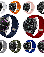 cheap -Watch Band for Samsung Galaxy Watch 46mm / Samsung Gear S3 Samsung Galaxy Sport Band Silicone Wrist Strap