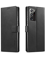 cheap -lc.imeeke Leather Case For Samsung Galaxy Galaxy S10 Galaxy S10 Plus Galaxy S10e Note 10 Note 10 Plus S20 S20 Plus S20 Ultra Note 20 Note 20 Ultra Card Holder Flip Case PU Leather
