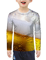 cheap -Kids Boys' Active Basic 3D Print Long Sleeve Blouse Yellow