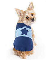 cheap -Dog Coat Sweater Stars Casual / Daily Cute Casual / Daily Winter Dog Clothes Warm Blue Pink Coffee Costume Cotton Polyster S M L XL XXL