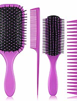 cheap -4pcs hair brushes for women - hair brush comb set for women great on wet or dry hair, no more tangle hairbrush for long thick thin curly natural hair (purple)