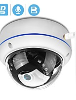 cheap -BESDER 1080P Vandal-proof IP Camera Wifi ONVIF P2P TF Card Slot CCTV Dome Camera Wireless Wired Audio Recorded Security Camera