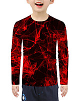 cheap -Kids Boys' Active Basic 3D Print Long Sleeve Blouse Red
