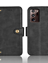 cheap -Case For Samsung Galaxy Galaxy J5(2017) J7(2017) Note 10 Note 20 Note 20 Ultra Wallet Card Holder Full Body Cases Solid Colored PU Leather