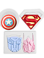 cheap -Set of 3 Hero Chocolate Biscuit Cake Fondant Silicone Mold