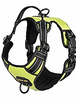cheap -dog harness with padded handle,reflective in night,nylon oxford mesh soft padding lining, no-pull metal d ring,quick release buckle