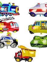 cheap -Party Balloons 7 pcs Train Car Bus Party Supplies Boys and Girls Party Birthday Decoration Random Styles for Party Favors Supplies or Home Decoration