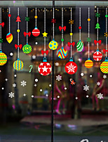 cheap -Christmas Colorful Ball Wall Stickers Decorative Wall Stickers, PVC Home Decoration Wall Decal Wall Decoration Glass Window Decoration / Removable